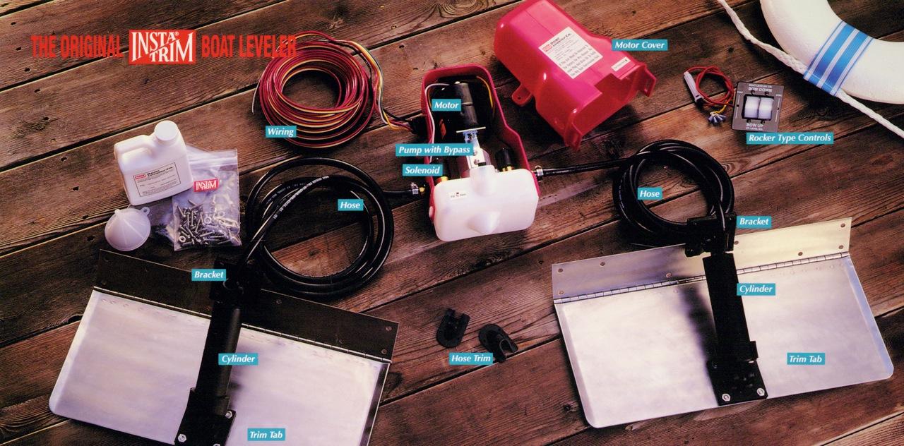 18 x 8 trim tab set insta trim boat levelers rh insta trim com Trim Tab Wiring-Diagram insta trim boat leveler wiring diagram