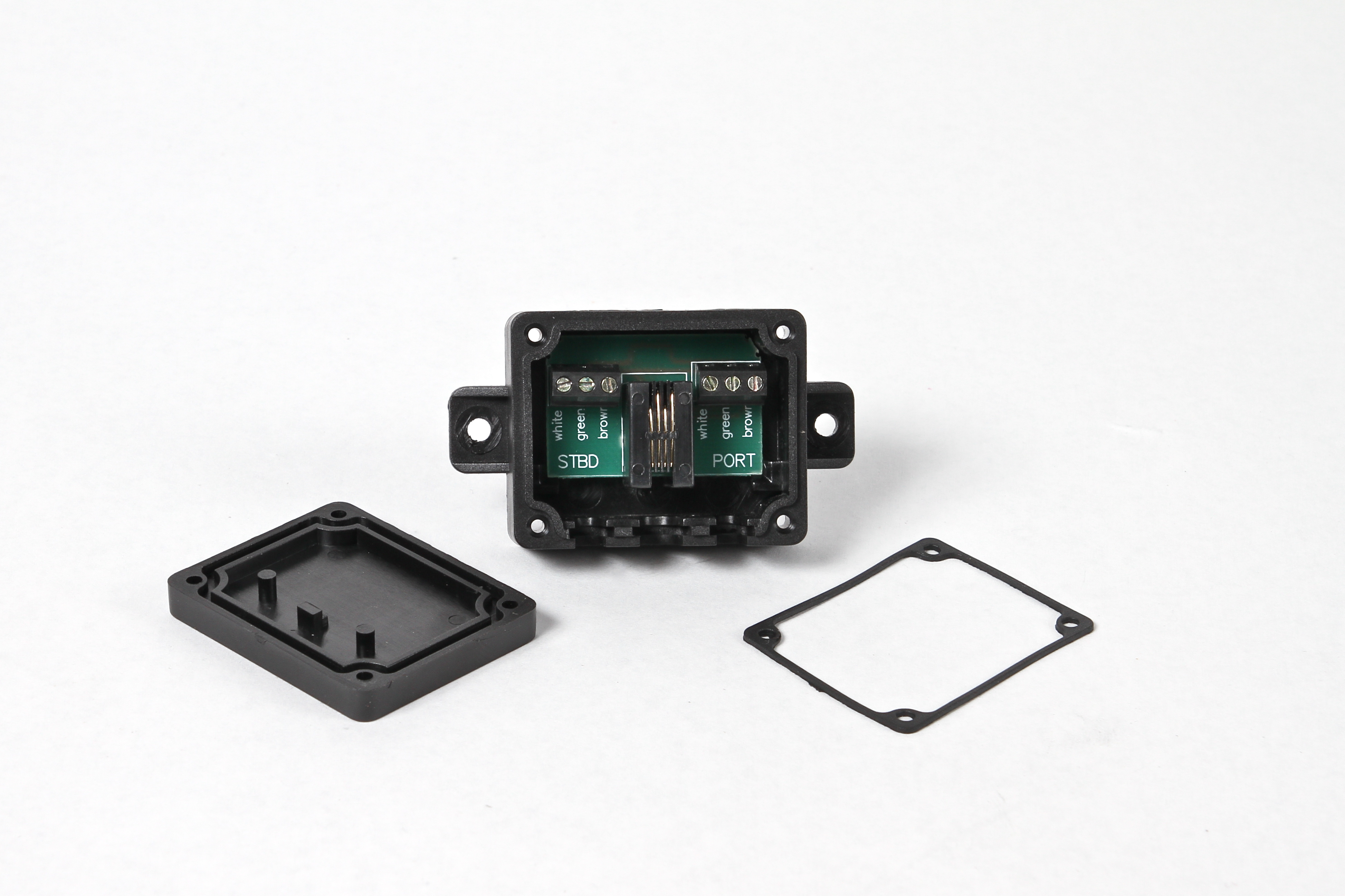 Y Connector Black Junction Box Insta Trim Boat Levelers Marine Wiring 0